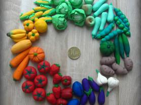 Сделаю овощи и фрукты для детских игр
