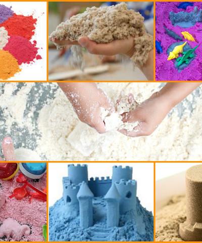 Космический песок сиреневый, меняющий цвет 0.5кг