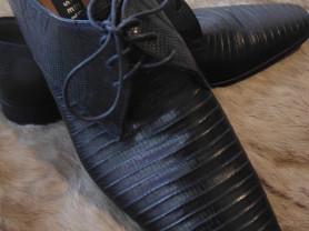 Туфли из кожи рептилии