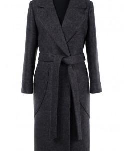 01-6320 Пальто женское демисезонное (пояс) Вареная шерсть Те
