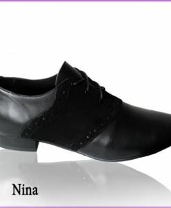 Оригинальные туфли из натуральной кожи и нубука