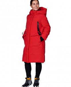 Пальто женское, сезон 2019-2020, арт. B-8872, Красный
