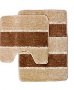 SERA (бежевый) Комплект ковриков для ванной 2 предмета