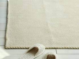 Бежевый ковер Pure-towel, короткий ворс 150 х 190