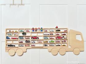 Настенная полка для машинок и игрушек