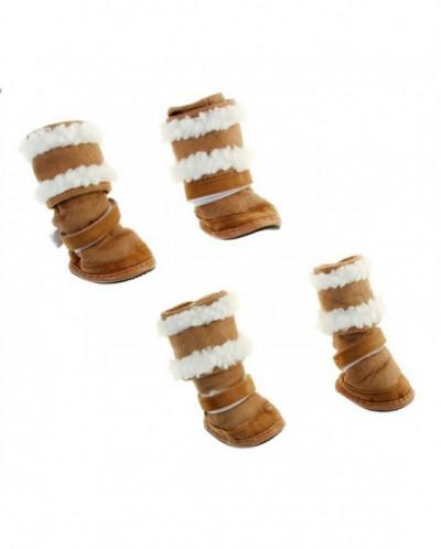 "Ботинки ""Унты"", набор 4 шт, размер 3 (подошва 6 х 4,2 см)"