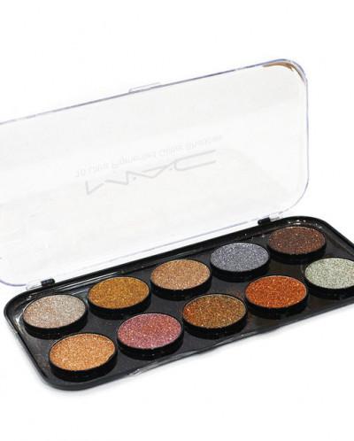 MAC тени-блеск 10 цветов