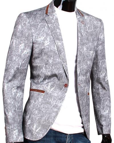 9b877abe800 Стильный мужской пиджак под джинсы серого цвета Alcino 1840607 - Babyblog.ru
