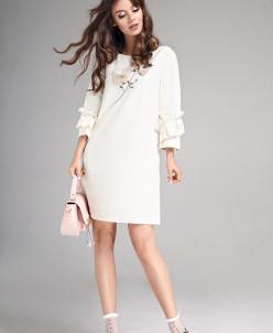 Р1130 платье   Цвет: молочный
