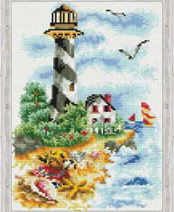 Чайки у маяка - алмазная мозаика
