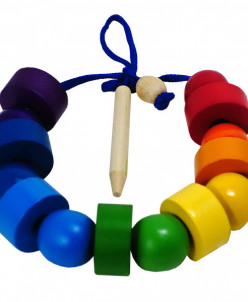 Бусы шарики и шайбочки Радуга 14 дет(RNToys)