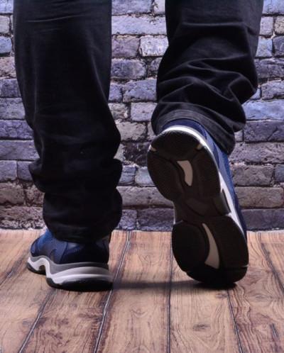 Мужские комбинированные кроссовки (мягкий текстиль/экомех)