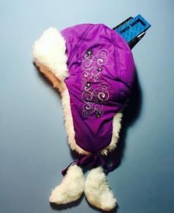 Теплая зимняя шапка-ушанка Lummie