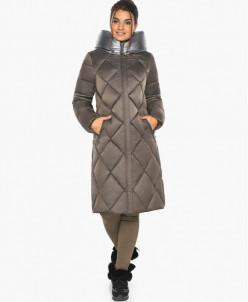Капучиновый воздуховик женский удобного фасона зимний модель