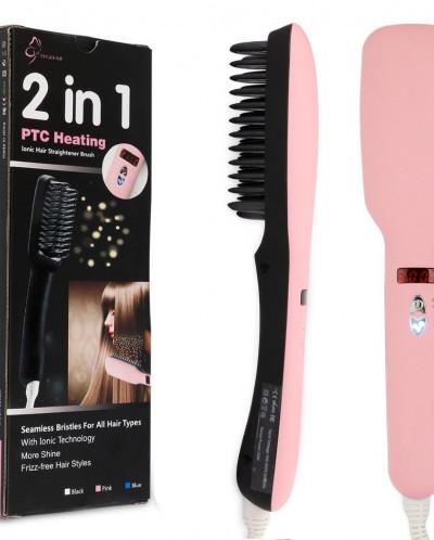 Расческа выпрямитель для волос 2 в 1