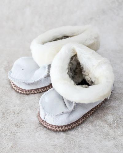 Пинетки Белые. 100% овчина