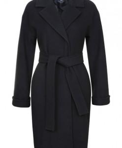 Пальто халатного типа с английским воротником