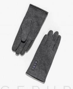 Утонченные перчатки серого цвета