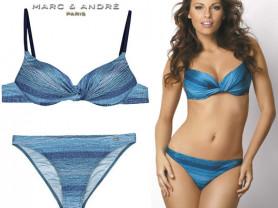 Купальник Marc & Andre раздельный синий размер 36