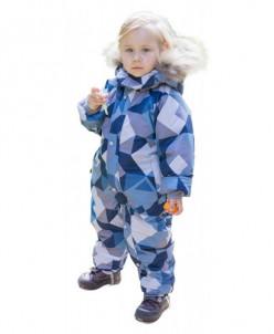 Комбинезон для мальчика 778-М серо-голубой