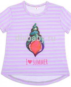 Футболка для девочки I love summer №2