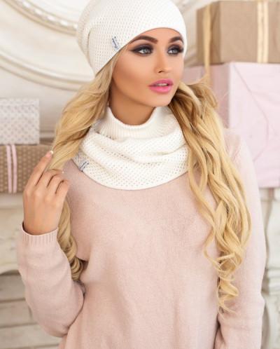Комплект «Жаклин» (шапка и шарф-хомут) 4557-7 от Braxton