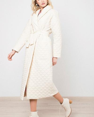 Нежное пальто прямого кроя MR 220 2384 0220 Milk от MR520
