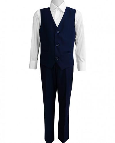 Школьный костюм-двойка UNIK KIDS, жилетка+брюки, темно-синий