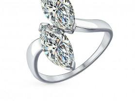 Серебряное кольцо с фианитами Sokolov, р. 16,5