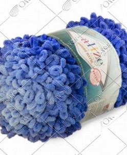 """Пряжа ALIZE """"PUFFY FINE OMBRE batik"""" (500 г) 7280 (голубой)"""