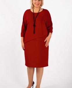 Платье Леди красный