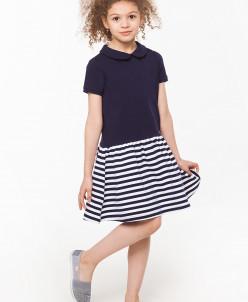 Комбинированное платье из футера