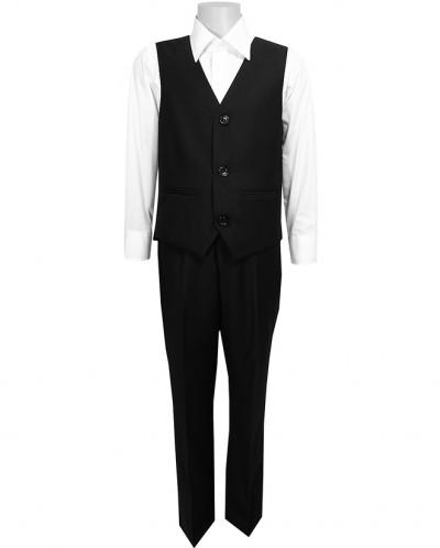 Школьный костюм-тройка UNIK KIDS, черный (116-164)