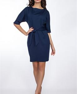 Платье #247-Milano (Темно-синий)