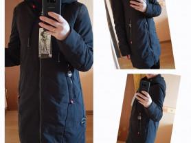 Новая куртка парка на весну черная 40 42 44 46