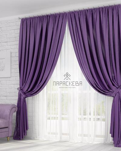 Алиса фиолет штора блэкаут арт.13001