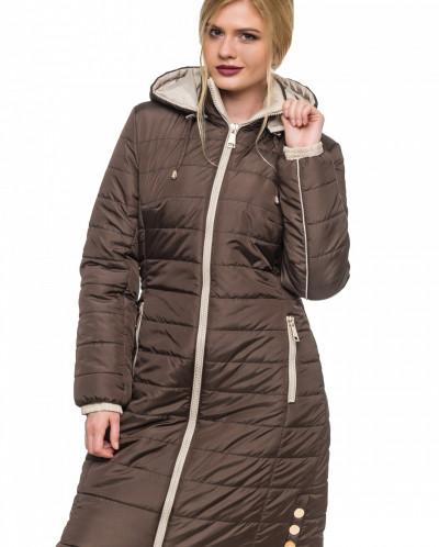 Куртка зимняя Эльза шоколад