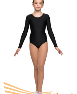 Купальник гимнастический длинный рукав (полиамид) 2 цв,26-44