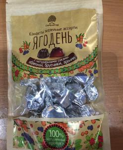 """Мармелад """"Ягодень"""" в шоколадной глазури 150гр (крафт-пакет)"""