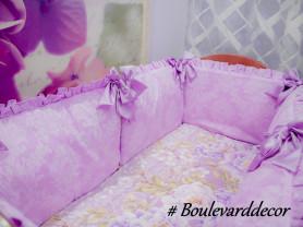 Бортики(бамперы)в детскую кроватку. Ручная работа