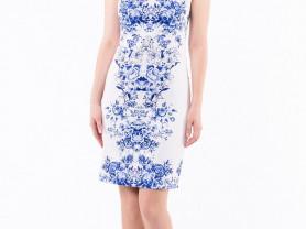 Прекрасное Платье Remix в стиле Гжель, размер 46