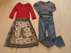Пакет фирменной одежды юбка джинсы свитшоты 44-46