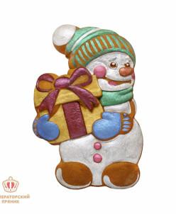Императорский пряник Снеговик с подарком (2)