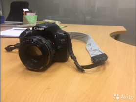 Canon EOS 550D с объективом ultrasonic lens EF 50