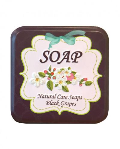 Натуральное скраб-мыло с экстрактом черного винограда, 110 г