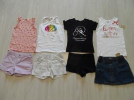 Новые и мало б/у фирменные шорты юбки футболки6-8