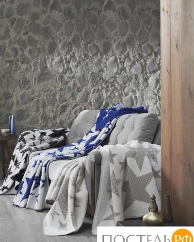 "3052/1 Плед KARNA хлопок ""STARS"" 130x170 см (голубой)"