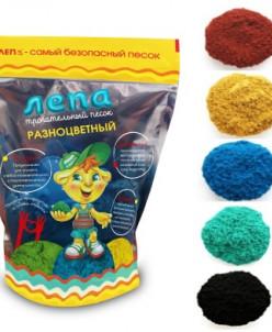 Песок Лепа Разноцветный (Дой-пак)0,5кг