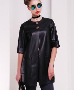 """Стильная куртка из эко-кожи """"Альпама"""" 3062"""
