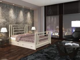 Двуспальная металлическая кровать Титан 1